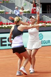 Ekaterina Makarova and Elena Vesnina - Celebrate the Victory in the Madrid Open Tennis 2018 WTA Doubles Final Match