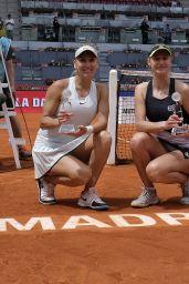 Ekaterina Makarova and Elena Vesnina - Celebrate the Victory in the Madrid Open Tennis 2018 WTA Doubles Final Match