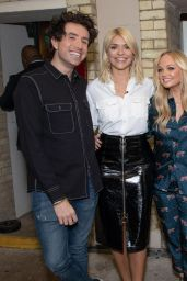 Emma Bunton, Fearne Cotton and Holly Willoughby - Celebrity Juice Filming in London 05/08/2018