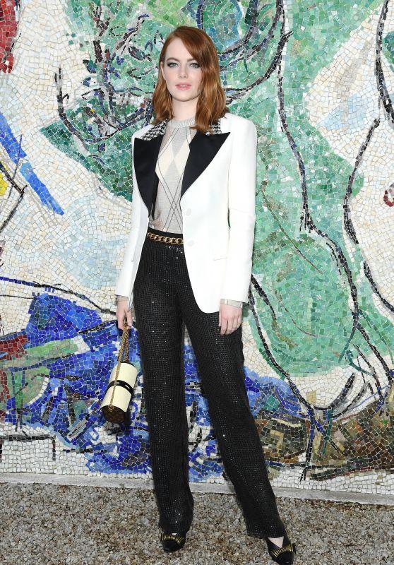 Emma Stone - Louis Vuitton 2019 Cruise Collection in Saint-Paul-De-Vence