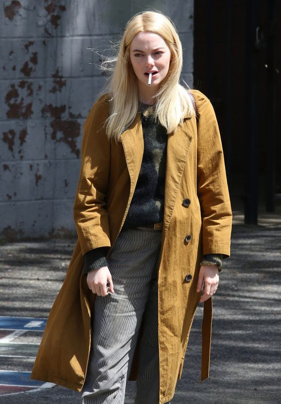 "Emma Stone - Netflix ""Maniac"" Series Set in Brooklyn 05/11/2018"