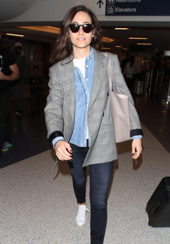 Emmy Rossum - LAX International Airport in Los Angeles 05/08/2018