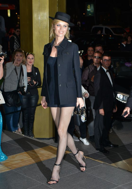 Eva Herzigova at the Marriott Hotel for the Dior Dinner in Cannes