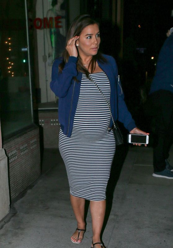 Eva Longoria - Grabs Dinner at Via Veneto Restaurant in Santa Monica 05/27/2018