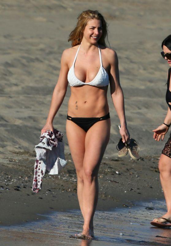Gemma Atkinson in Bikini on a Beach in Marbella 05/26/2018