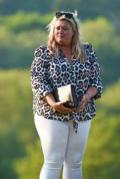 Gemma Collins, Chloe Sims and Georgia Kousoulou - Filming The Only Way Is Essex in Brentwood 05/15/2018