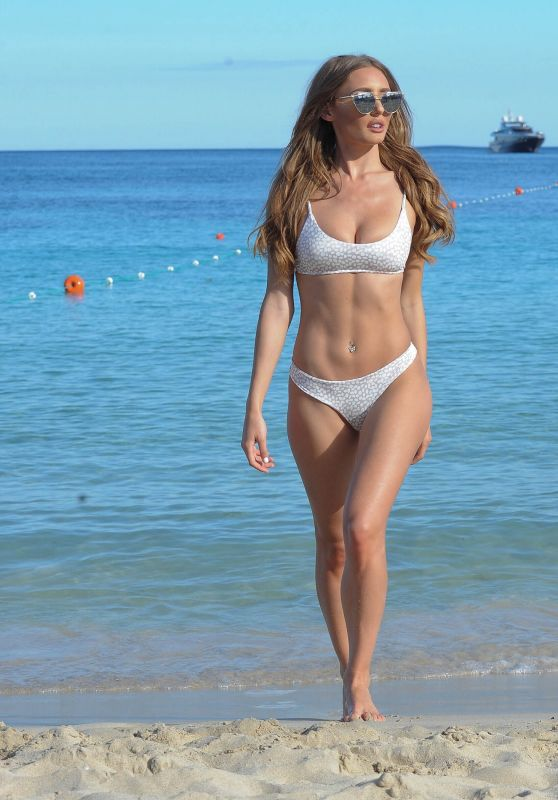 Georgie Clarke in Bikini on the Beach in Tenerife, May 2018