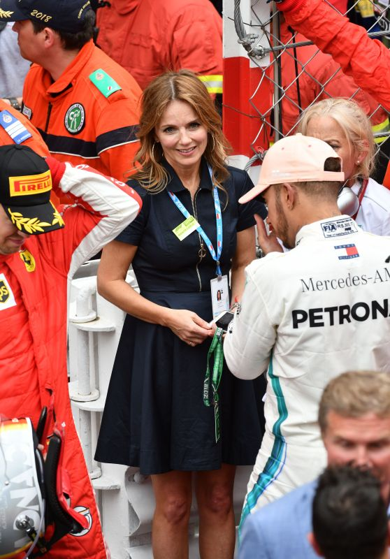 Geri Halliwell - Congratulates on the Track, the First 3 Drivers of the 76th Grand Prix of Monaco