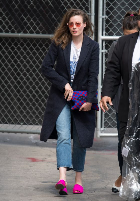 Gillian Jacobs at Jimmy Kimmel Live TV Show in Los Angeles 05/18/2018