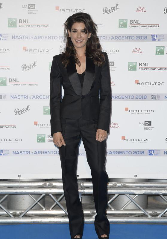 Giulia Michelini – Nastri D'Argento 2018 Blu Carpet in Rome