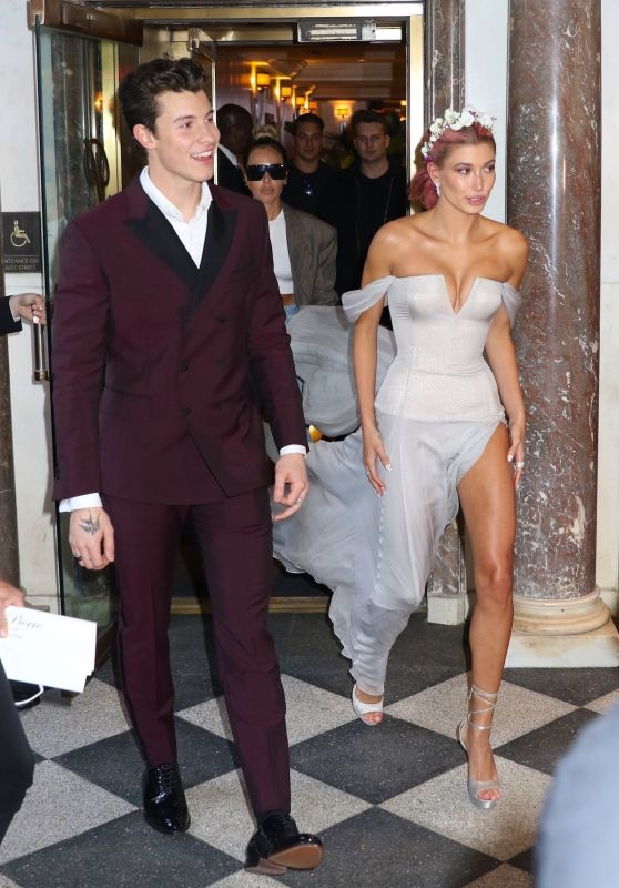 Hailey Baldwin and Shawn Mendes - Leaving Their Hotel and Heading to 2018 MET Gala