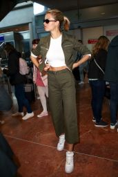 Hailey Clauson at Nice Airport 05/17/2018