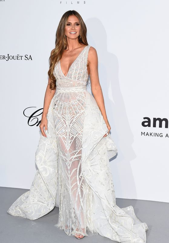 Heidi Klum – amfAR's Cinema Against AIDS Gala in Cannes 05/17/2018