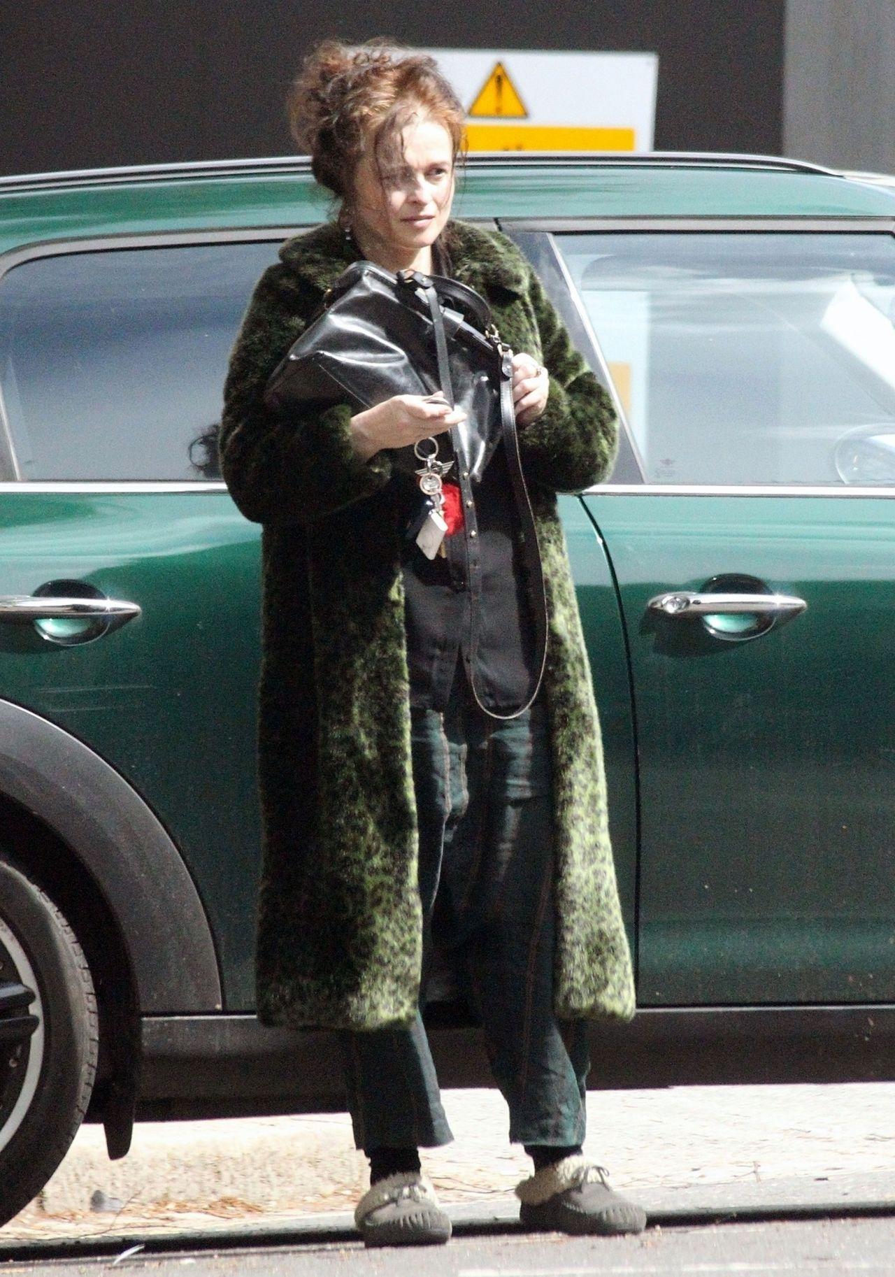 Helena Bonham Carter Running Errands In North London 05