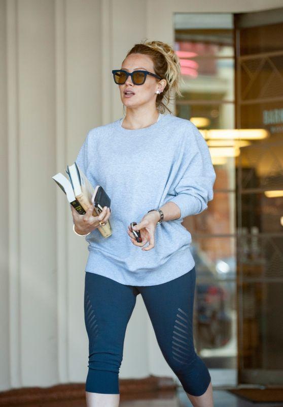 Hilary Duff at Starbucks in Studio City 05/28/2018