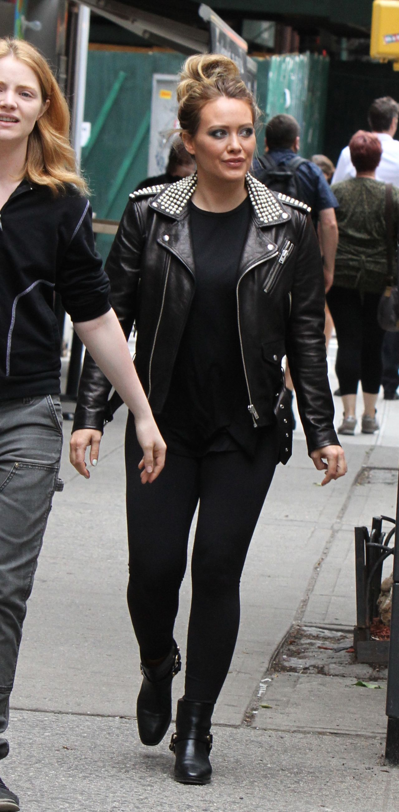 Hilary Duff in Studded...