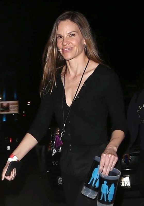 Hilary Swank - Arrives for the U2 Concert in Inglewood 05/16/2018