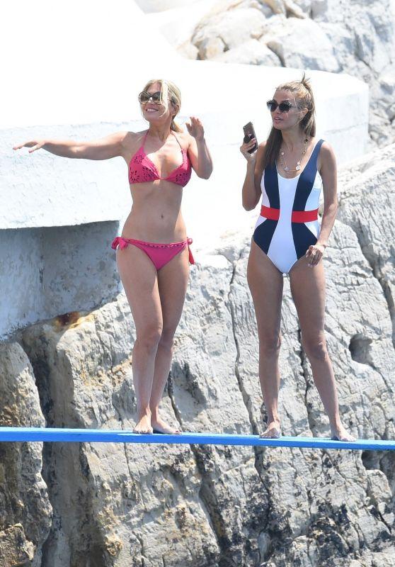 Hofit Golan and Victoria Bonya at the Swimming Pool of Eden Roc in Cap d