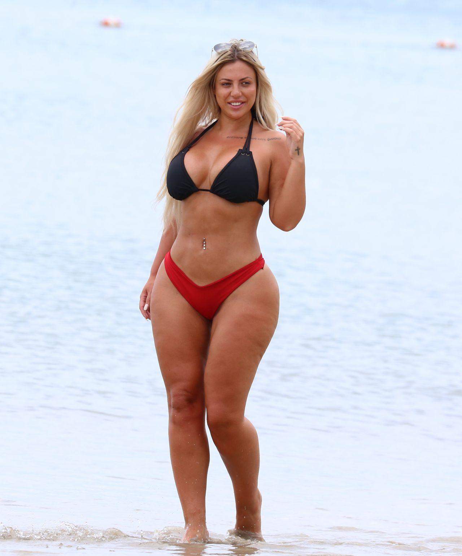 Holly Hagan In Bikini At The Beach In St Lucia 05162018-2122