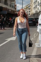 Iskra Lawrence - Out in Cannes 05/14/2018