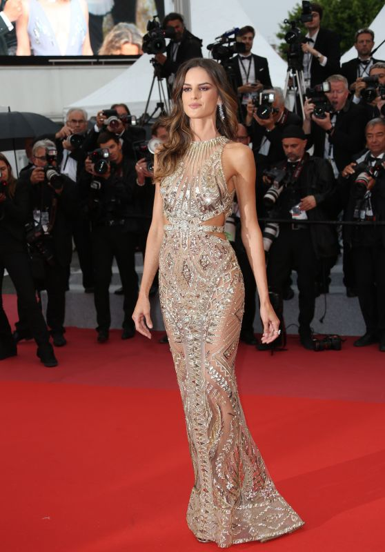 "Izabel Goulart – ""Burning"" Red Carpet in Cannes"