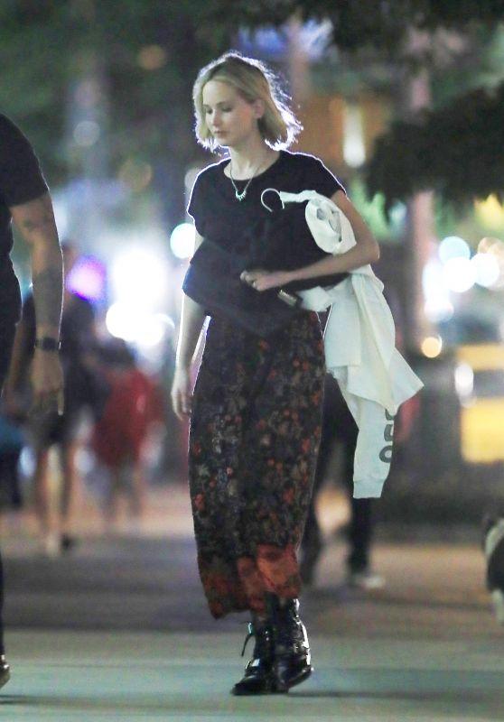 Jennifer Lawrence Night Out - Soho in New York City 05/27/2018