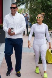 Jennifer Lopez in White Tights - Miami 05/23/2018