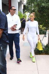 Jennifer Lopez in White Tights - Miami 05/23/2018