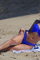 Jenny Thompson in a Blue Bikini - Costa Del Sol 05/30/2018