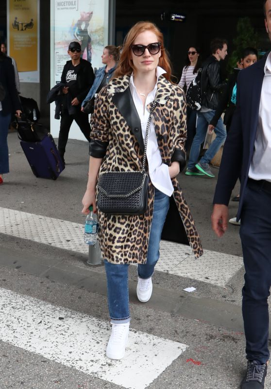 Jessica Chastain - Arriving at Nice Airport 05/09/2018