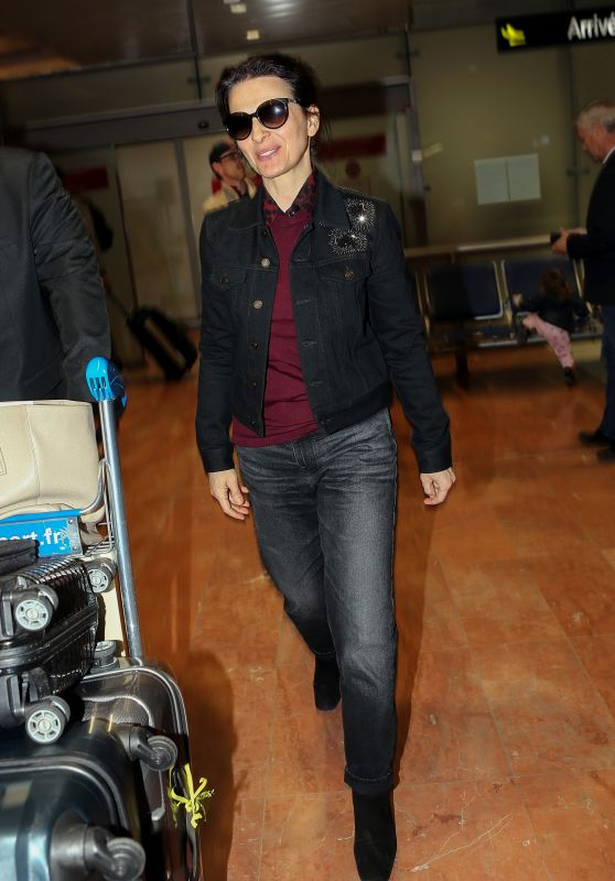 Juliette Binoche at Nice Airport 05/13/2018