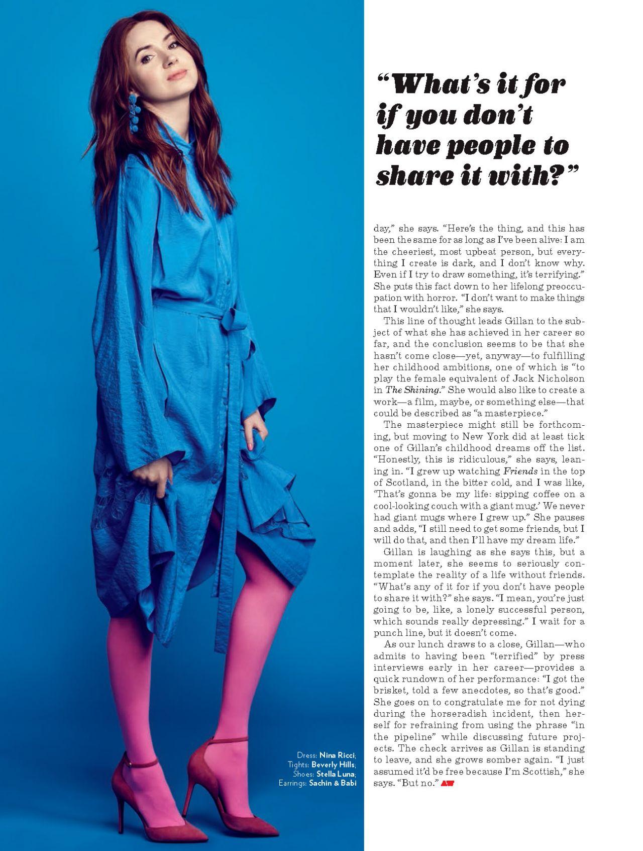 Karen Gillan American Way Magazine May 2018 Issue