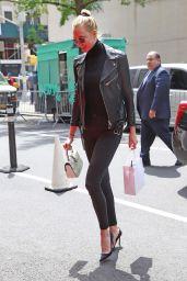 Karlie Kloss in a Leather Biker