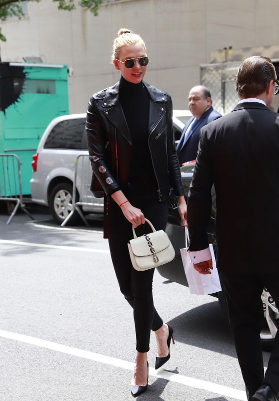 Karlie Kloss in a Leather Biker
