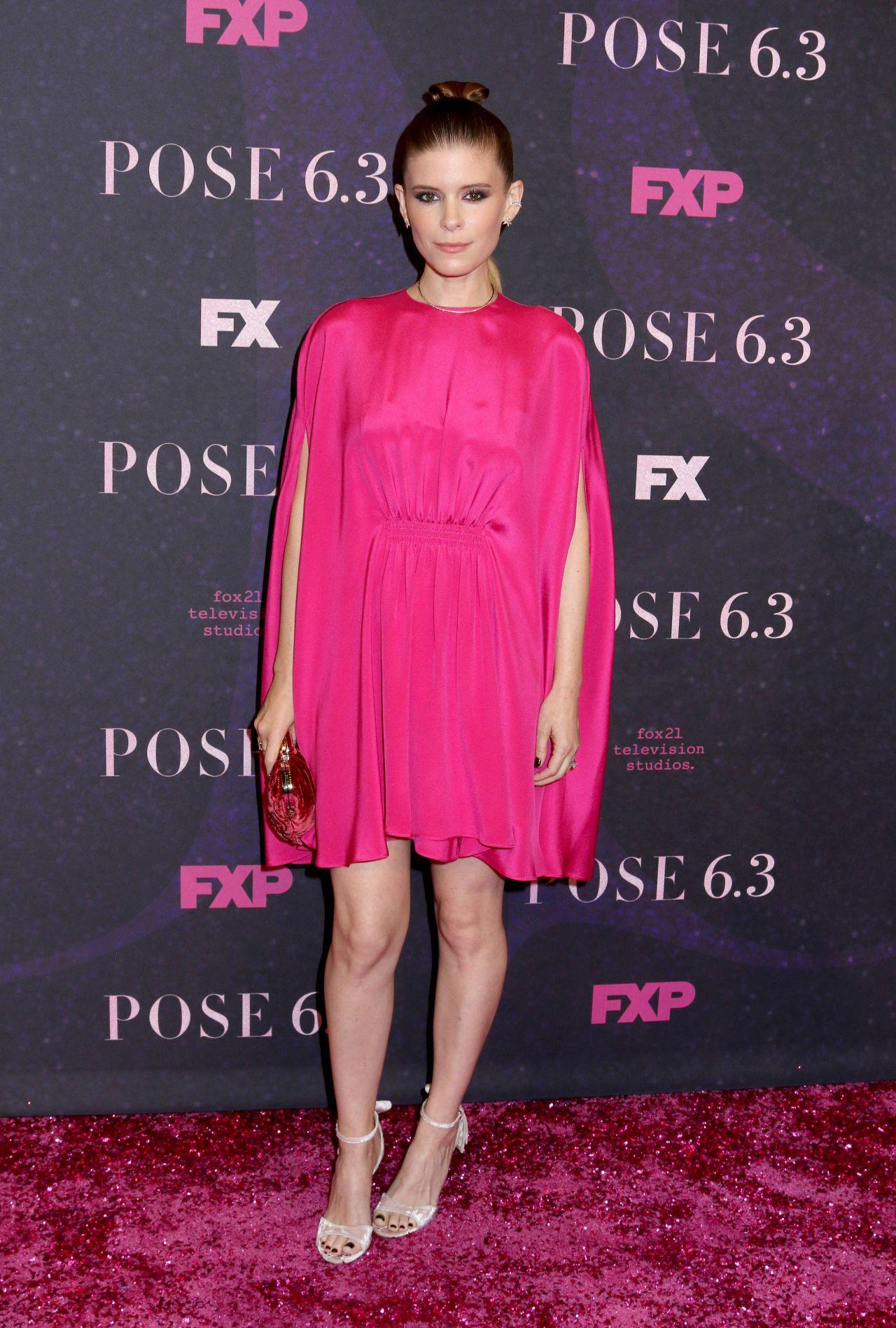 Kate Mara hot pink dress