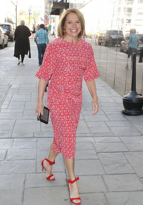 Katie Couric - Leaves at Good Day New York in NYC 05/03/2018