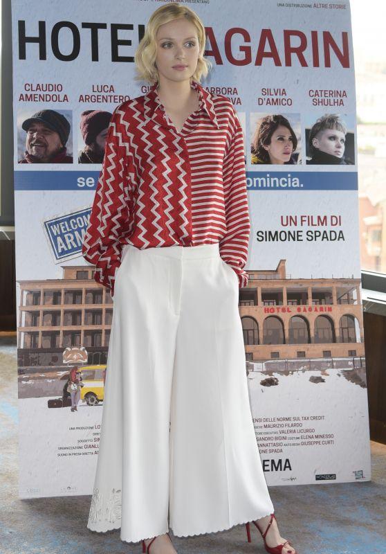"""Katsiaryna Shulha - """"Hotel Gagarin"""" Photocall in Rome"""