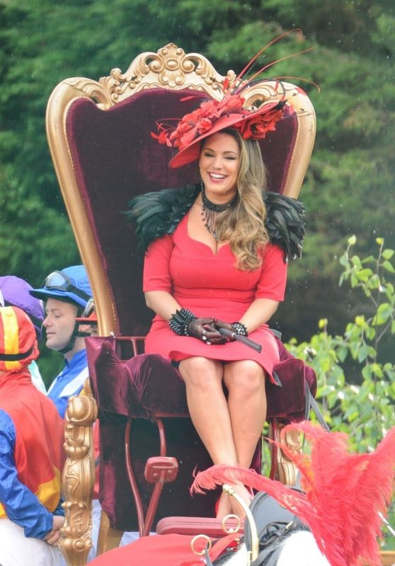 Kelly Brook - On Set Filming a Commercial in Liverpool 05/30/2018