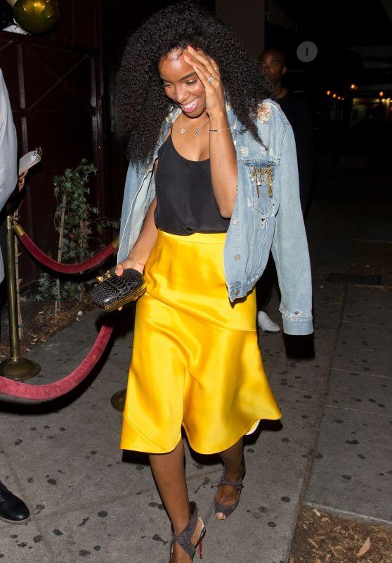 Kelly Rowland - Arriving at Stevie Wonder