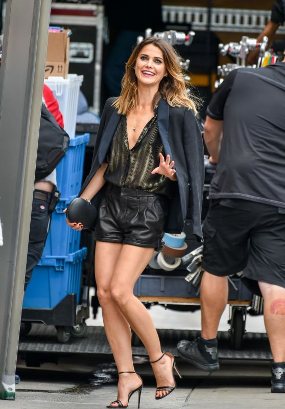 Keri Russell - Arrives to Jimmy Kimmel Live in Los Angeles 05/29/2018