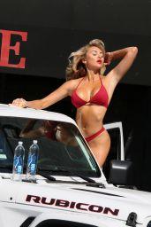 Khloe Terae in a Red Bikini - Photoshoot for 138 Water in Malibu 05/01/2018