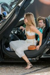 Kimberley Garner - Arriving at the Martinez Hotel in a McLaren in Cannes 05/18/2018
