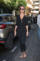 Kimberley Garner in Black Outfit in Cannes 05/14/2018