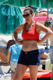 Kirsty Gallacher - Bootcamp Workout On Beach in Ibiza 05/15/2018