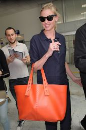Lara Stone - Arriving at Nice Airport in France 05/16/2018