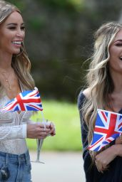 """Lauren Pope – """"The Only Way Is Essex"""" Filming at Colchester Castle 05/10/2018"""