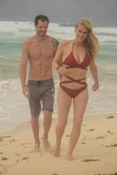 Leven Rambin in Swimsuit - Romantic Holiday at the Beach in Cancun 05/26/2018