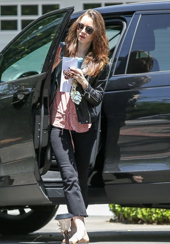 Lily Collins - Out in Beverly Hills 05/16/2018