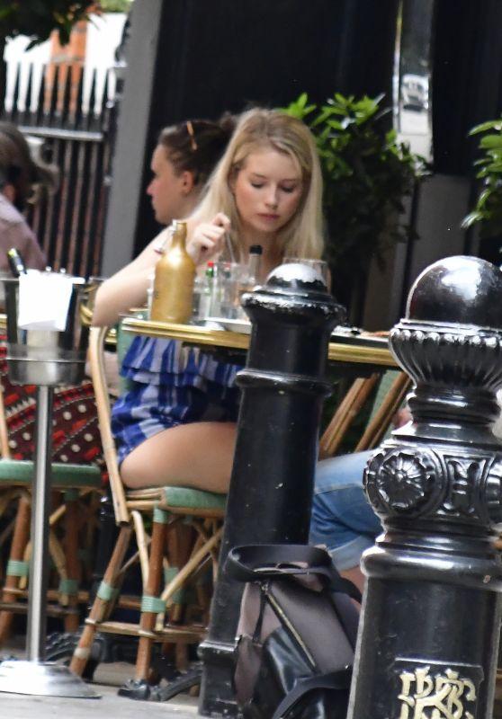 Lottie Moss on a Dinner Date in London 05/08/2018