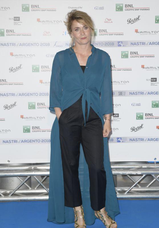 Lucia Mascino – Nastri D'Argento 2018 Blu Carpet in Rome